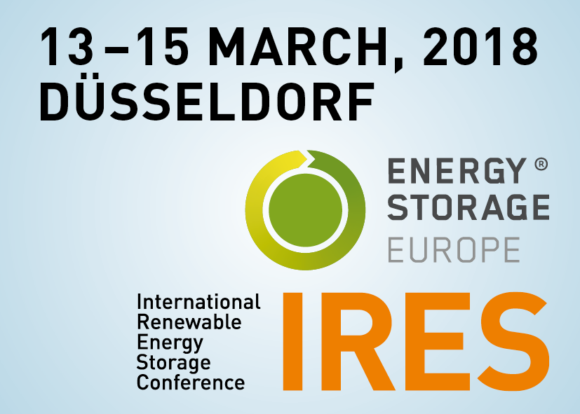 International Renewable Energy Storage Conference (IRES 2018)