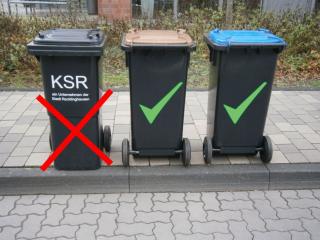 Mülltonne Vergessen An Die Straße Zu Stellen